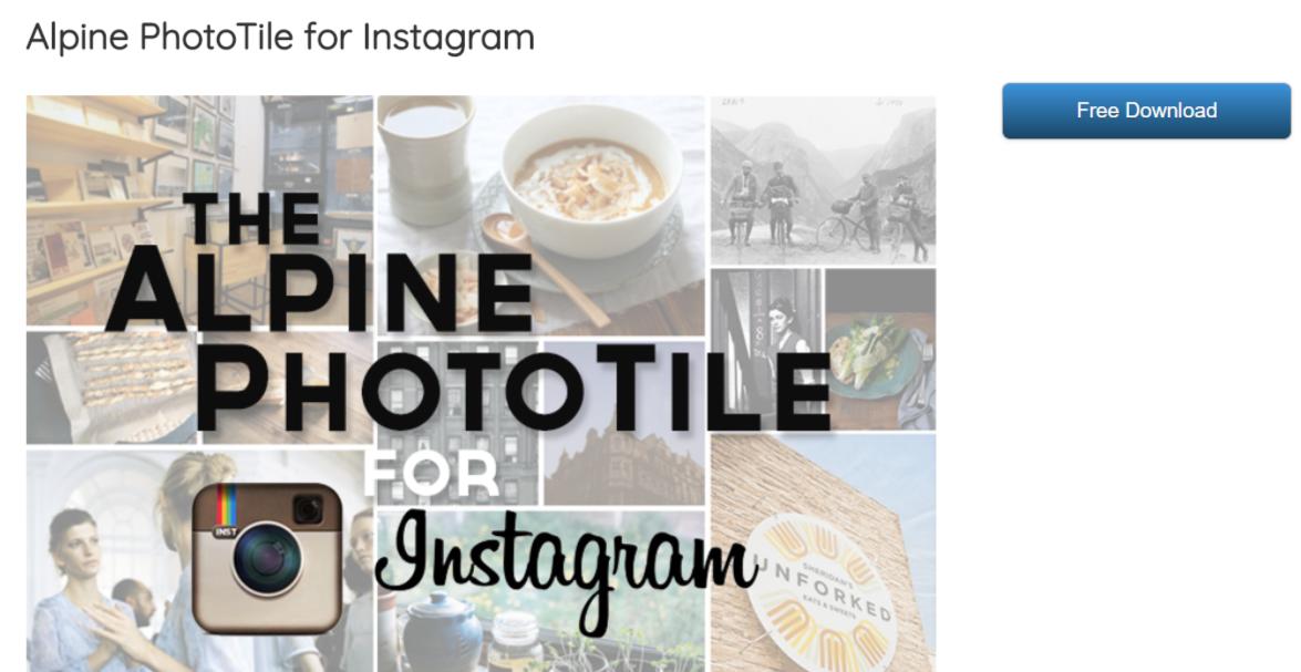 Alpine PhotoTile for Instagram - WordPress Instagram Plugins