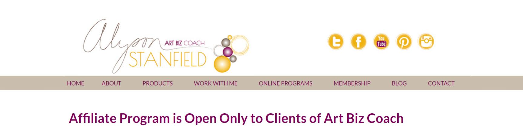 Art Biz Coach- Art Affiliate Programs