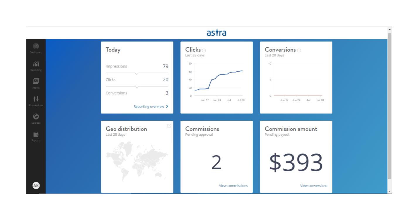Astra affiliate program web security