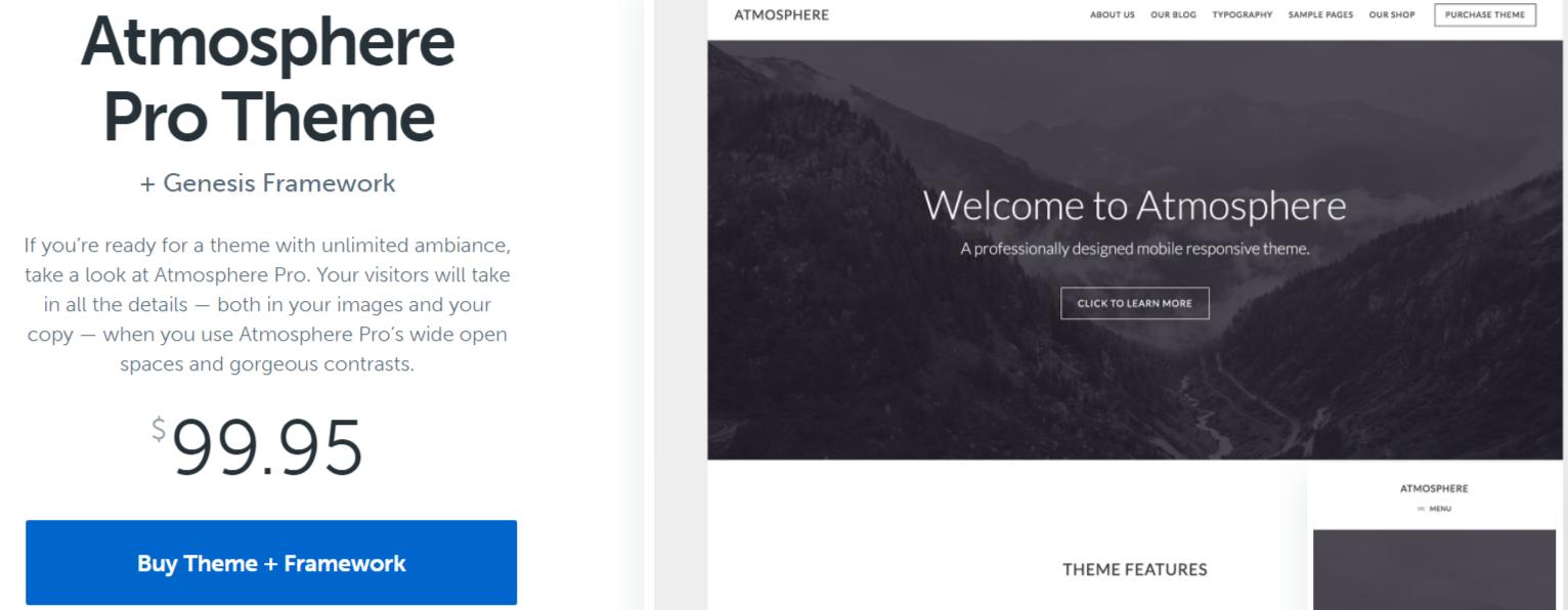 Atmosphere Pro- WordPress Blog Themes