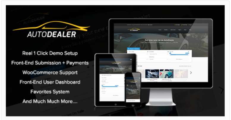 AutoDealer – Marketplace WordPress Themes