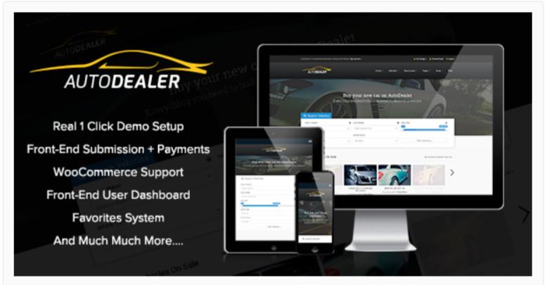 AutoDealer – Marketplace WordPress Themes