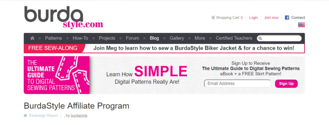 Burda Style- Art Affiliate Programs