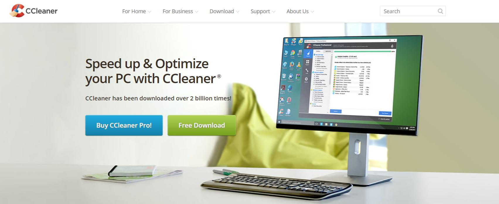 CCleaner- make a laptop run faster