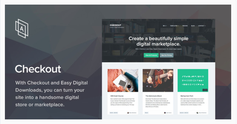 Checkout - Marketplace WordPress Themes