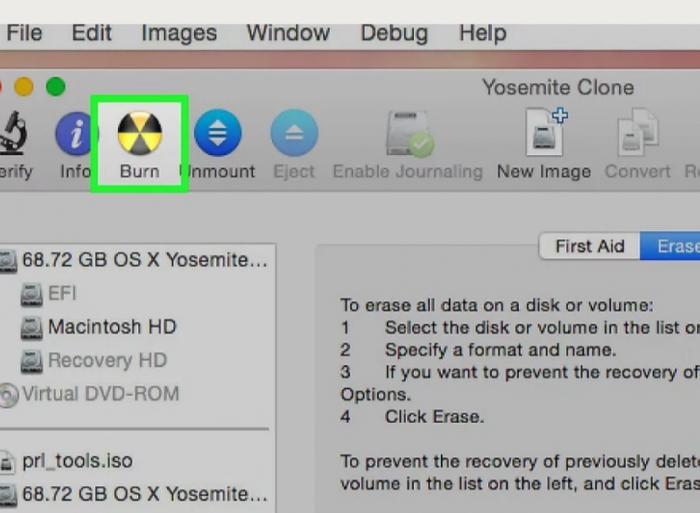 Click to Burn- Burn ISO on Mac