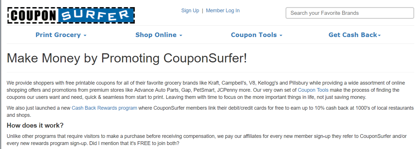 CouponSurfer- Affiliate Programs