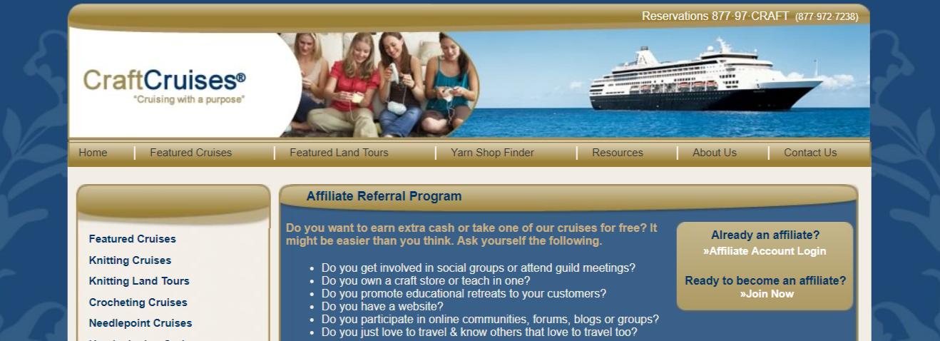 Craft Cruises- Art Affiliate Programs