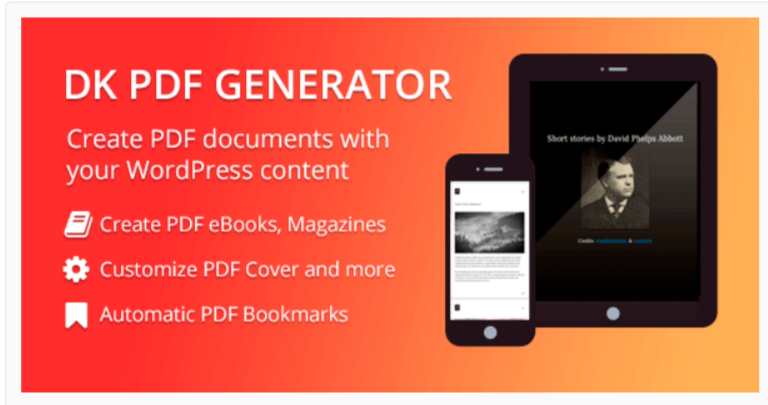 DK PDF Generator- WordPress PDF Viewer Plugins
