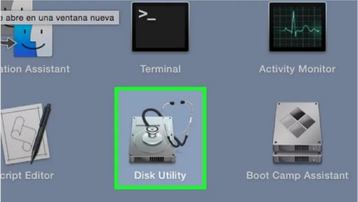 Open Disk Utility- Burn ISO on Mac