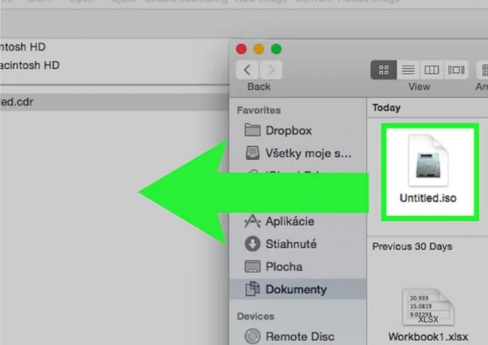 Insert CD/DVD- Burn ISO on Mac
