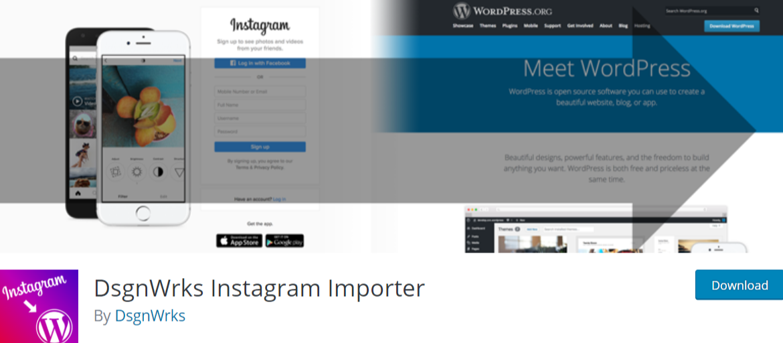 DsgnWrks Instagram Importer — WordPress Instagram Plugins