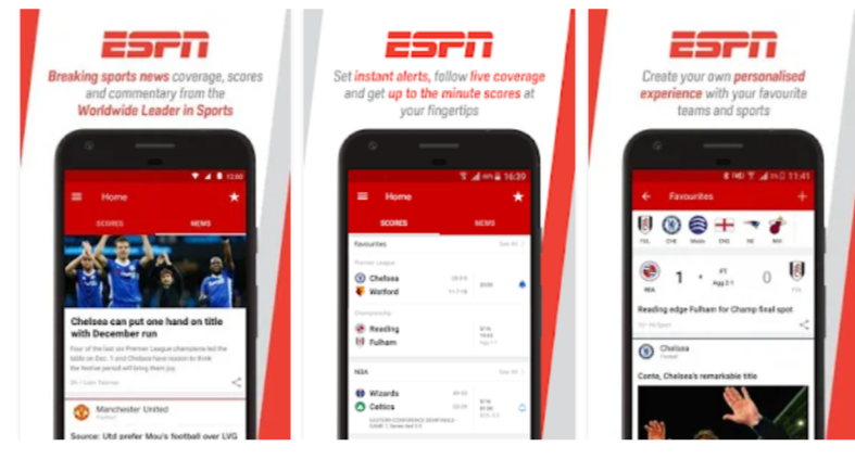ESPN – Football Streaming App