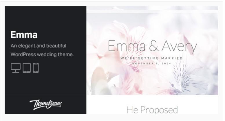 Emma- WordPress Wedding Themes