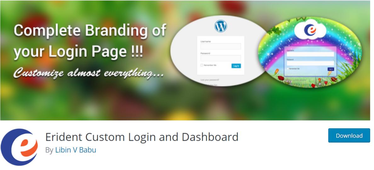 Erident Custom Login and Dashboard — WordPress Admin Dashboard Plugins