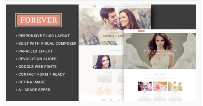 Forever- WordPress Wedding Themes