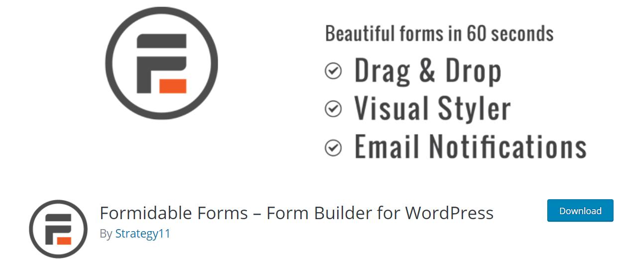 Formidable Forms –— WordPress Poll Plugins