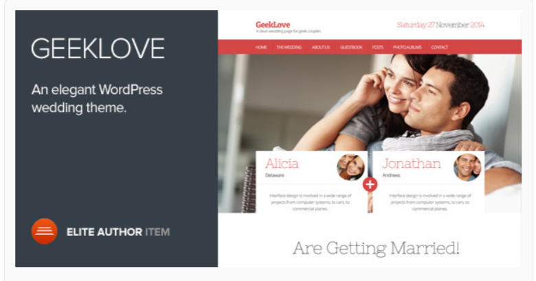 GeekLove- WordPress Wedding Themes