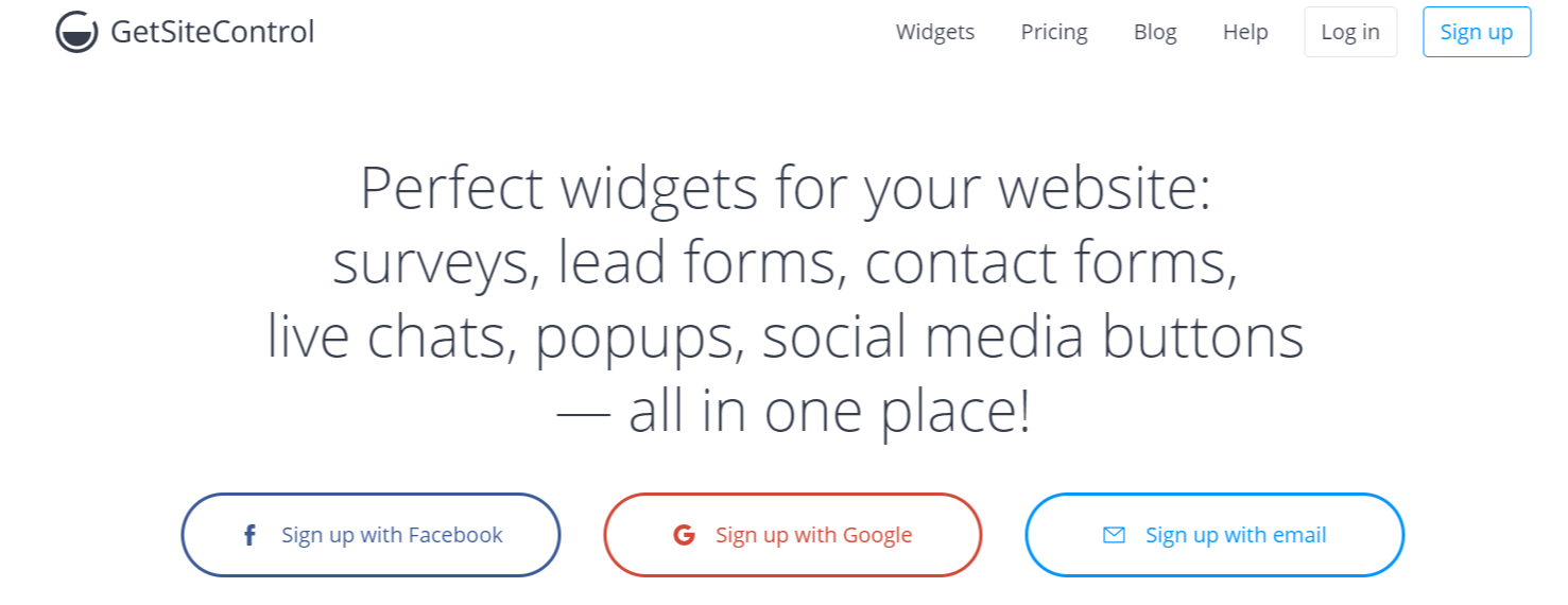 GetSiteControl- WordPress Email Marketing Plugins