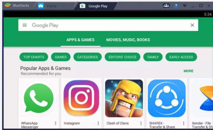 Browse Apps - Google Play Store for Windows PC