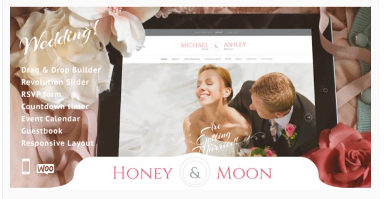 Honeymoon- WordPress Wedding Theme