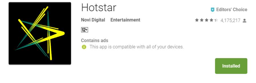Hotstar – Live Sports Streaming App