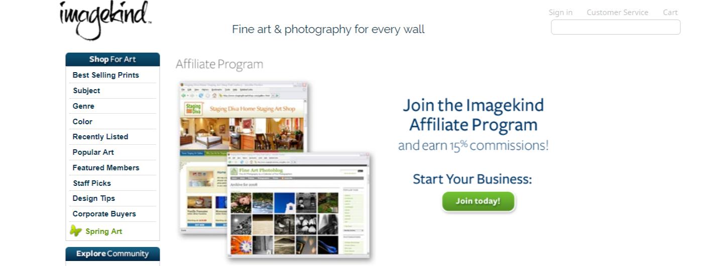 Imagekind- Art Affiliate Programs