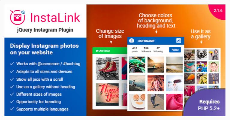 InstaLink- WordPress Instagram Plugins