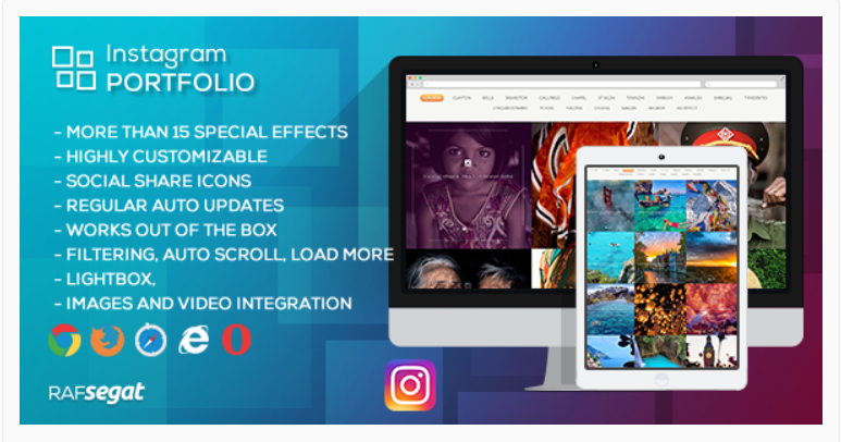 Instagram Portfolio - WordPress Instagram Plugins