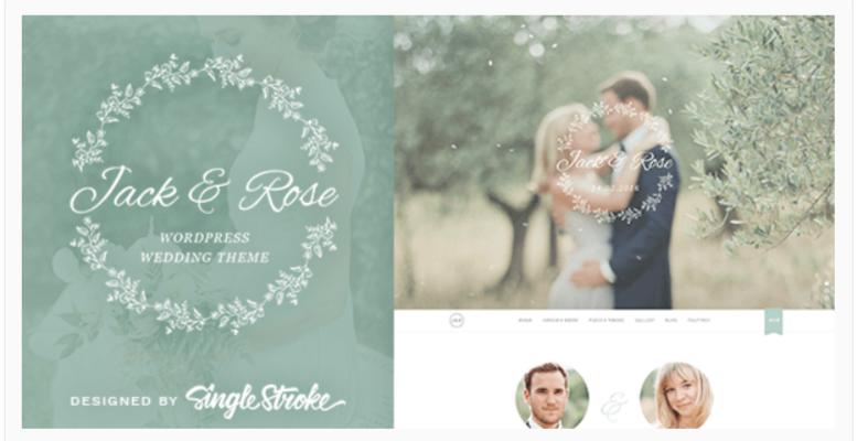 Jack & Rose- WordPress Wedding Themes