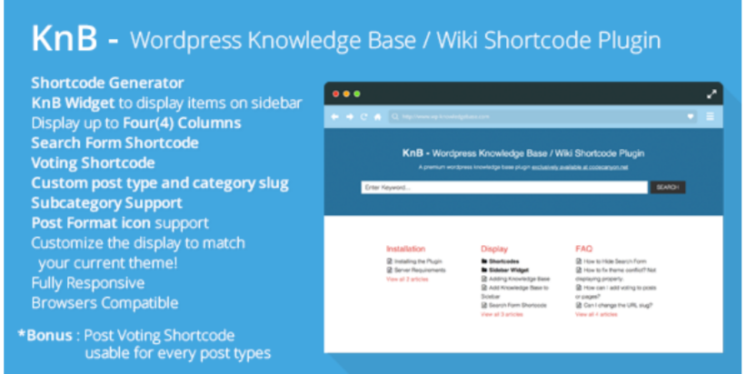 KnB- WordPress ShortCode Plugins
