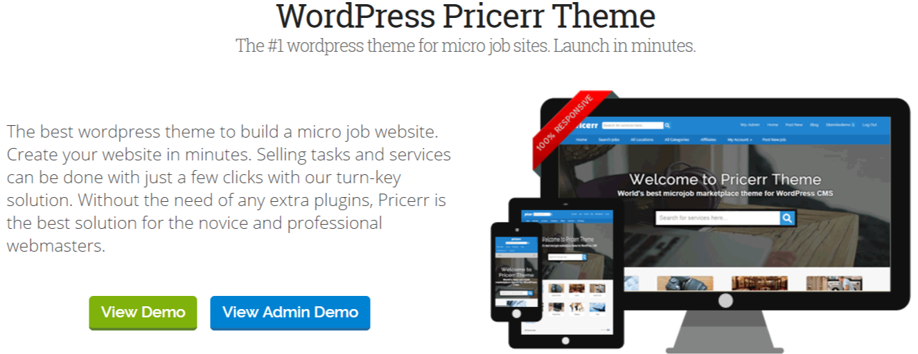 Marketplace WordPress Themes - Pricerr Theme