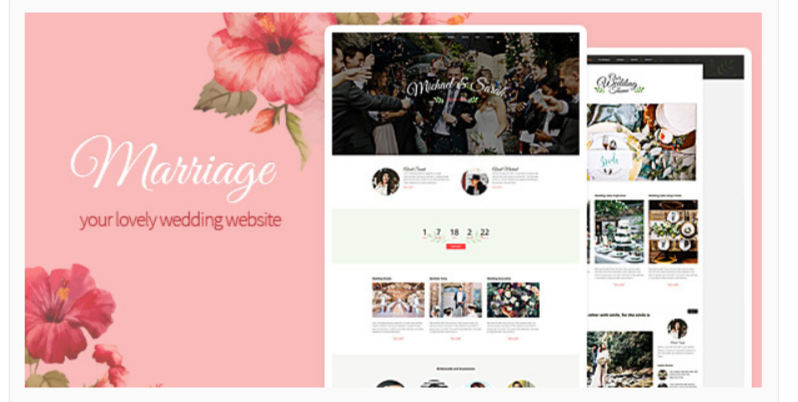 Marriage - WordPress Wedding Themes