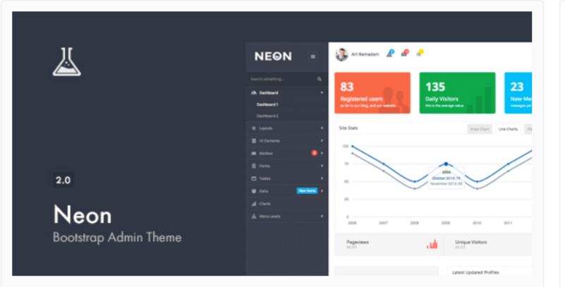 Neon Bootstrap - WordPress Admin Themes