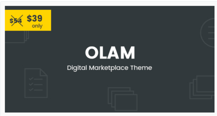 Olam - Marketplace WordPress Themes