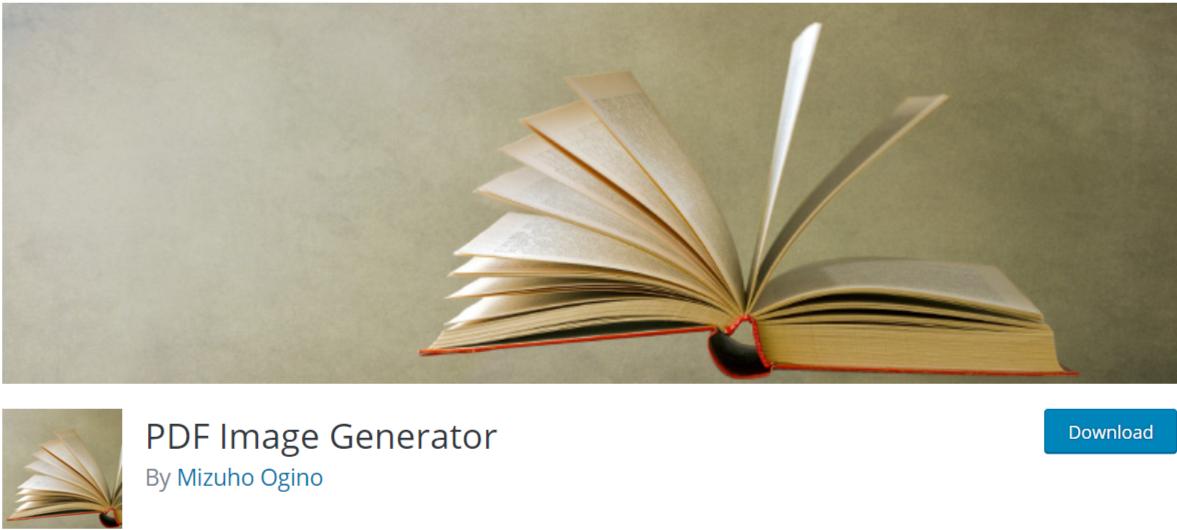 PDF Image Generator — WordPress PDF Viewer Plugins