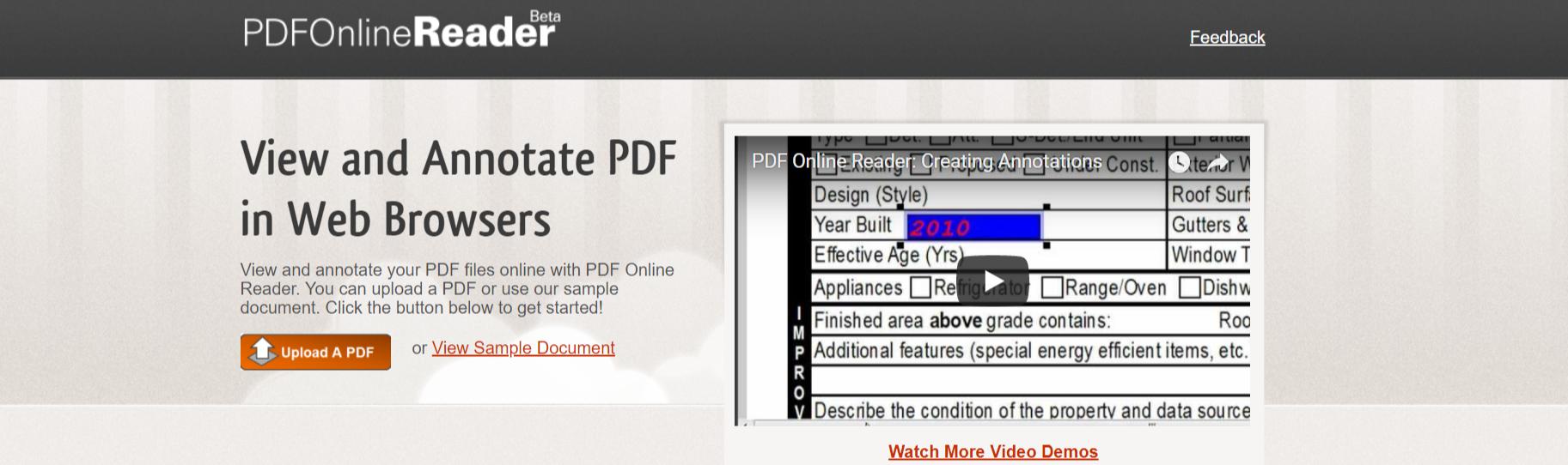 PDFOnline Reader- PDF Reader for Windows OS