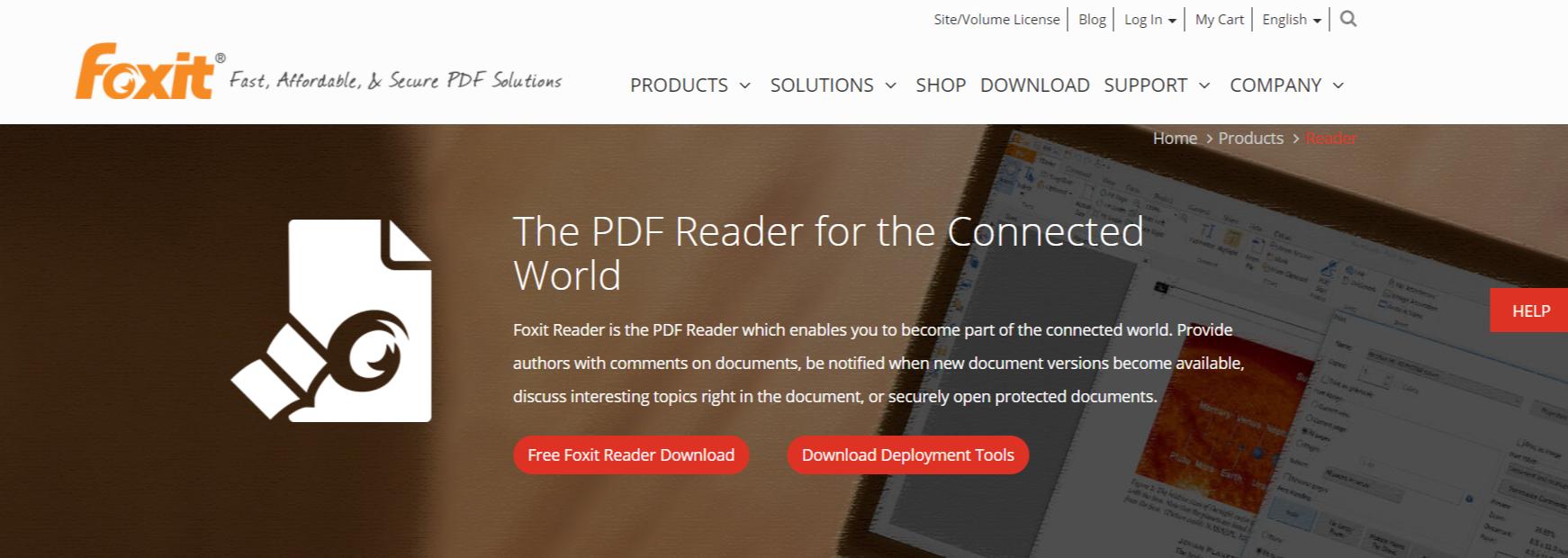Foxit Reader- PDF Reader for Windows OS