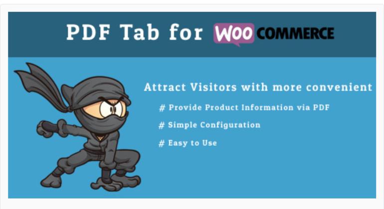 PDF Tab for WooCommerc -WordPress PDF Viewer Plugins