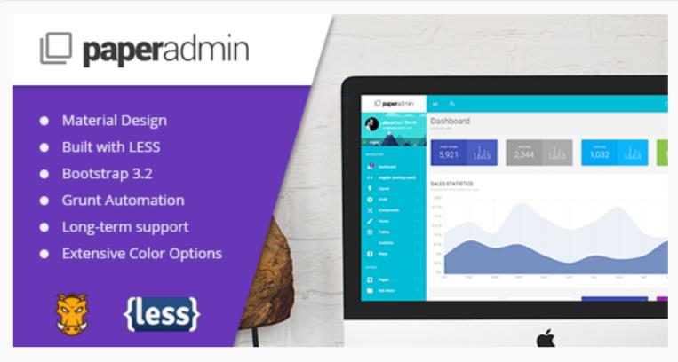 PaperAdmin- WordPress Admin Themes