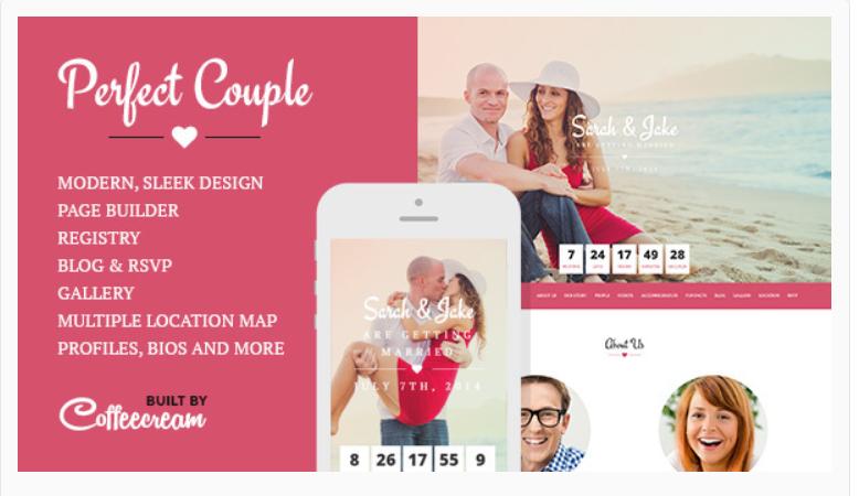 Perfect Couple- WordPress Wedding Themes