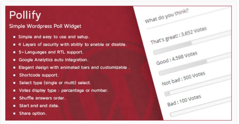 Pollify Simple WordPress Poll Plugins