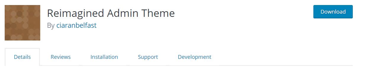 Reimagined Admin Theme — WordPress AdminThemes