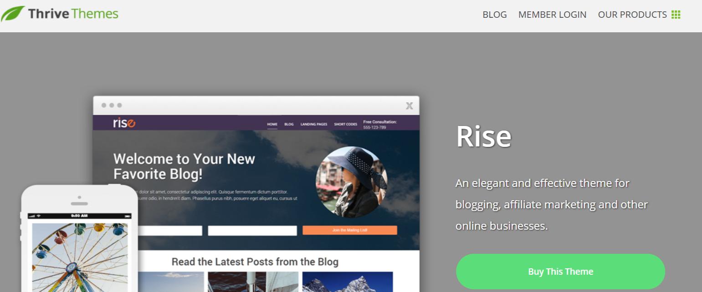 Rise- WordPress Blog Themes