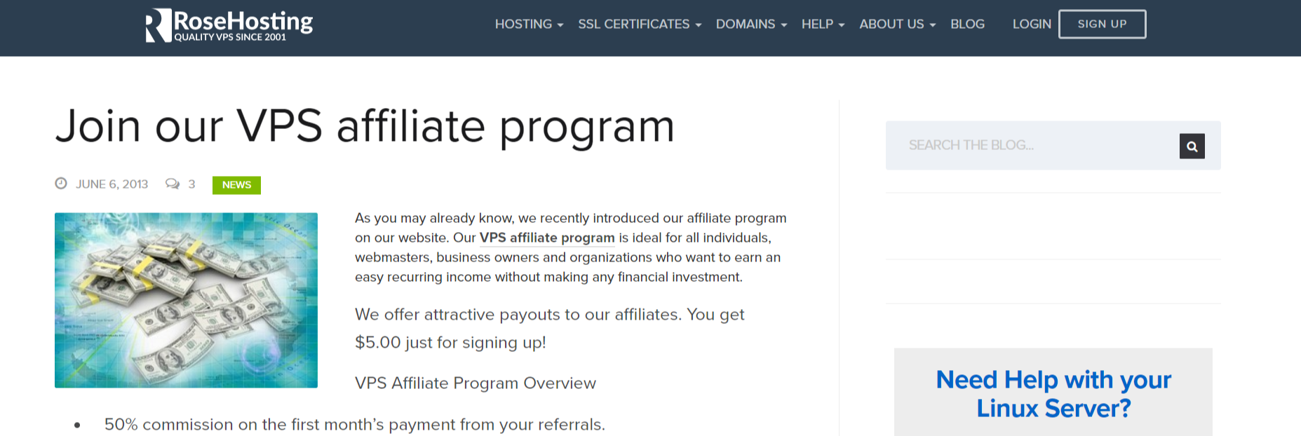 Rose Hosting- Affiliate Programs