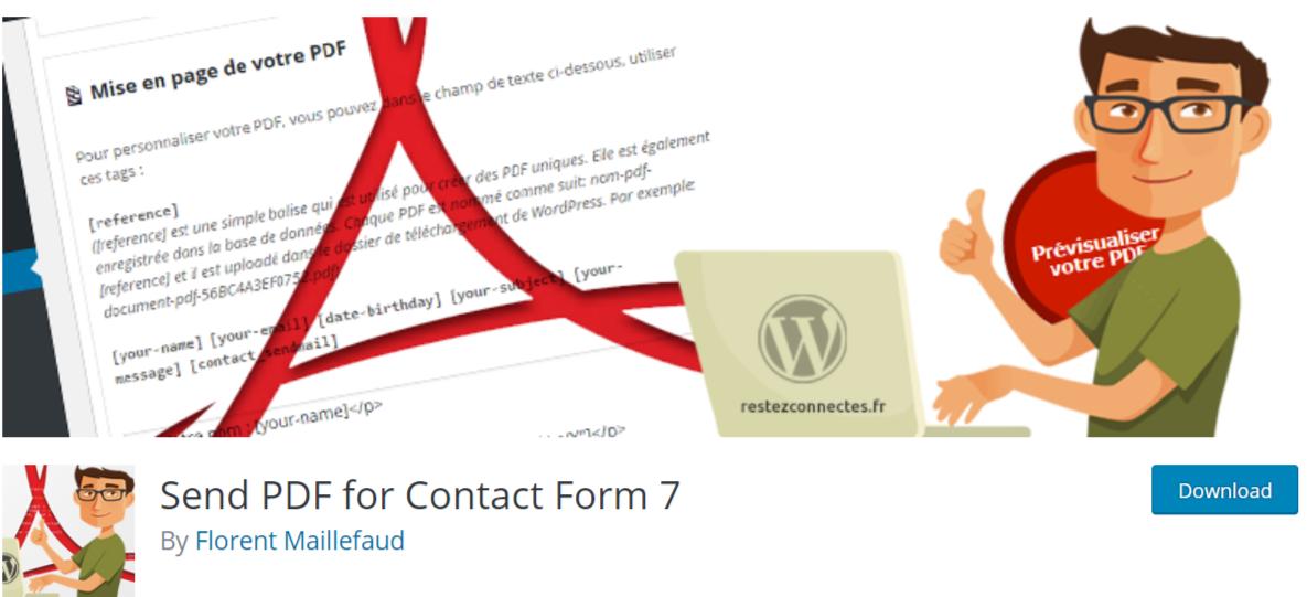 Send PDF for Contact Form 7 — WordPress PDF Viewer Plugins
