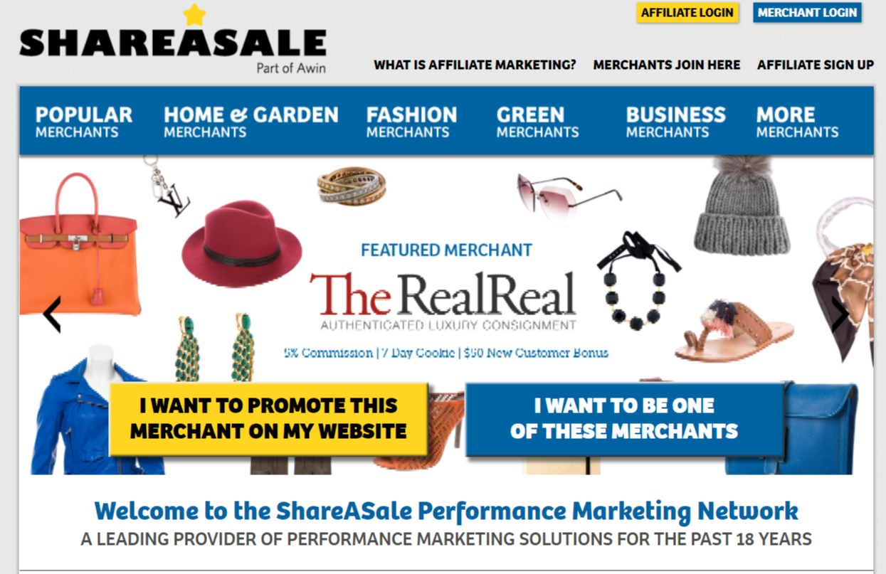 SharASale- Affiliate Programs