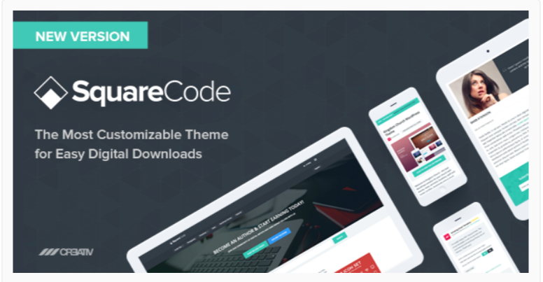 SquareCode - Marketplace WordPress Themes