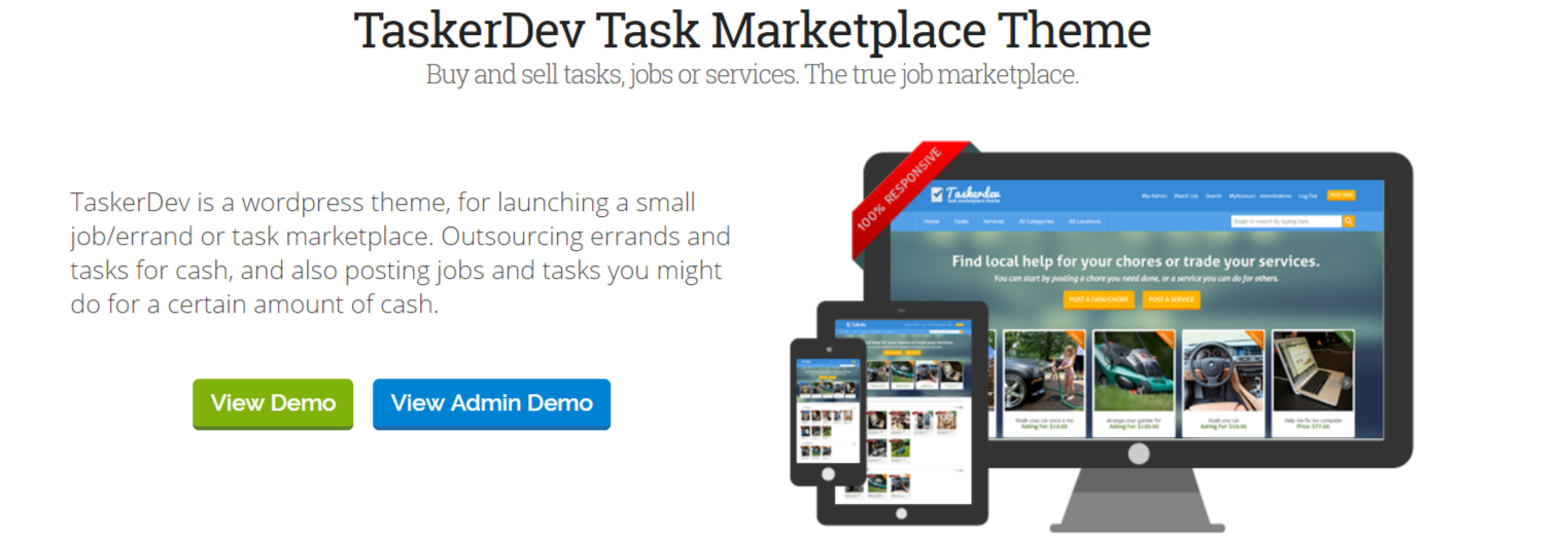 TaskerDev -Marketplace WordPress Themes