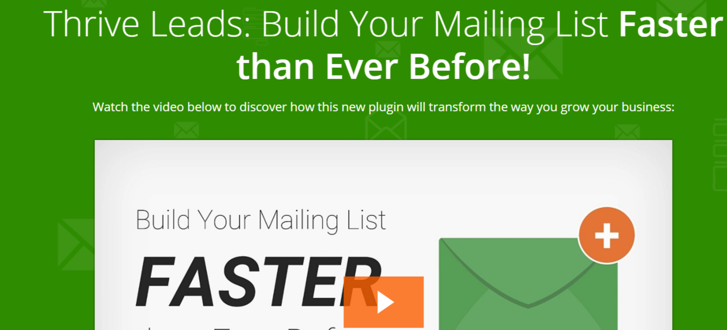 Thrive Leads - WordPress Email Marketing Plugin